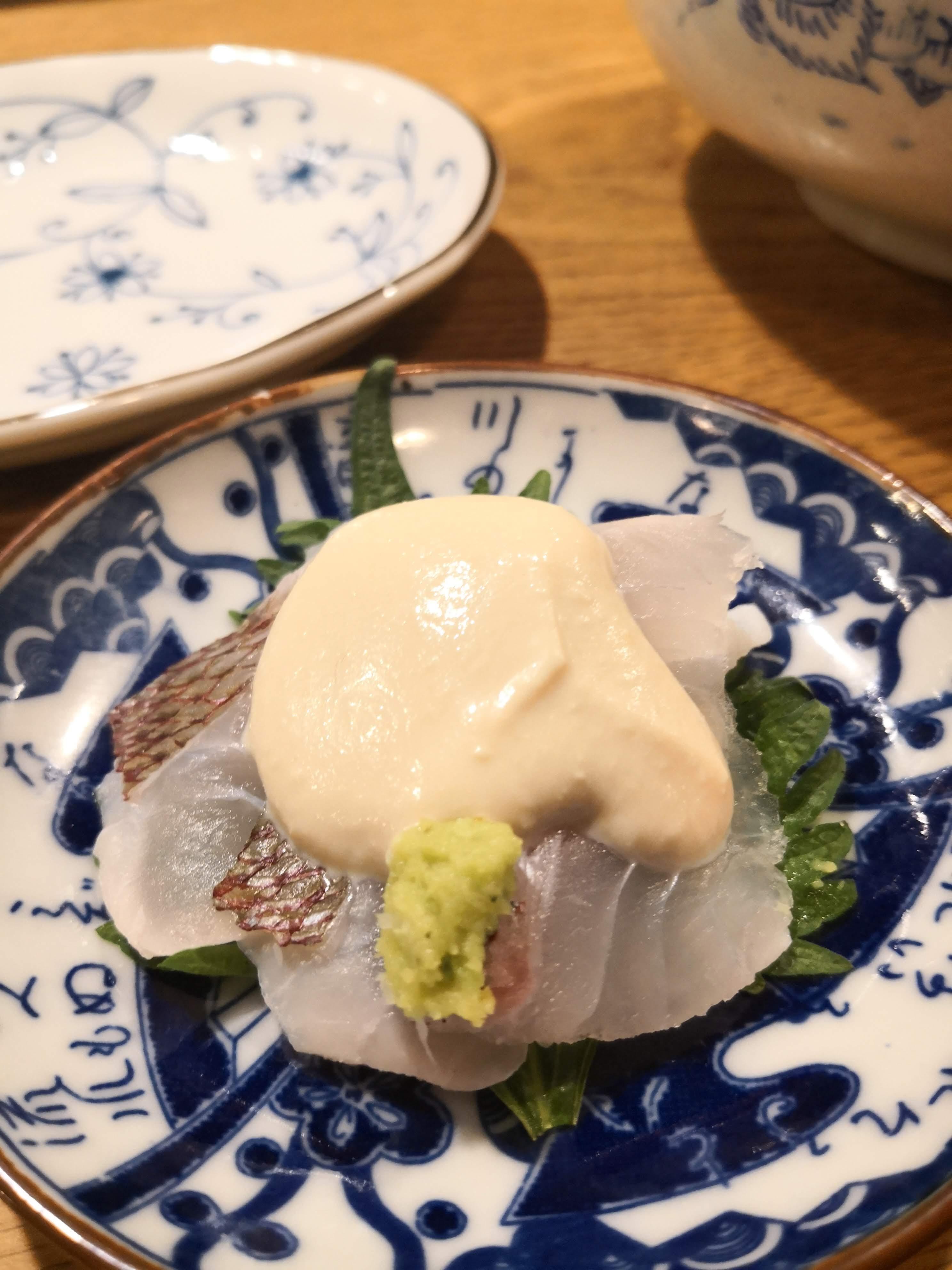 桜鯛の白酢がけ