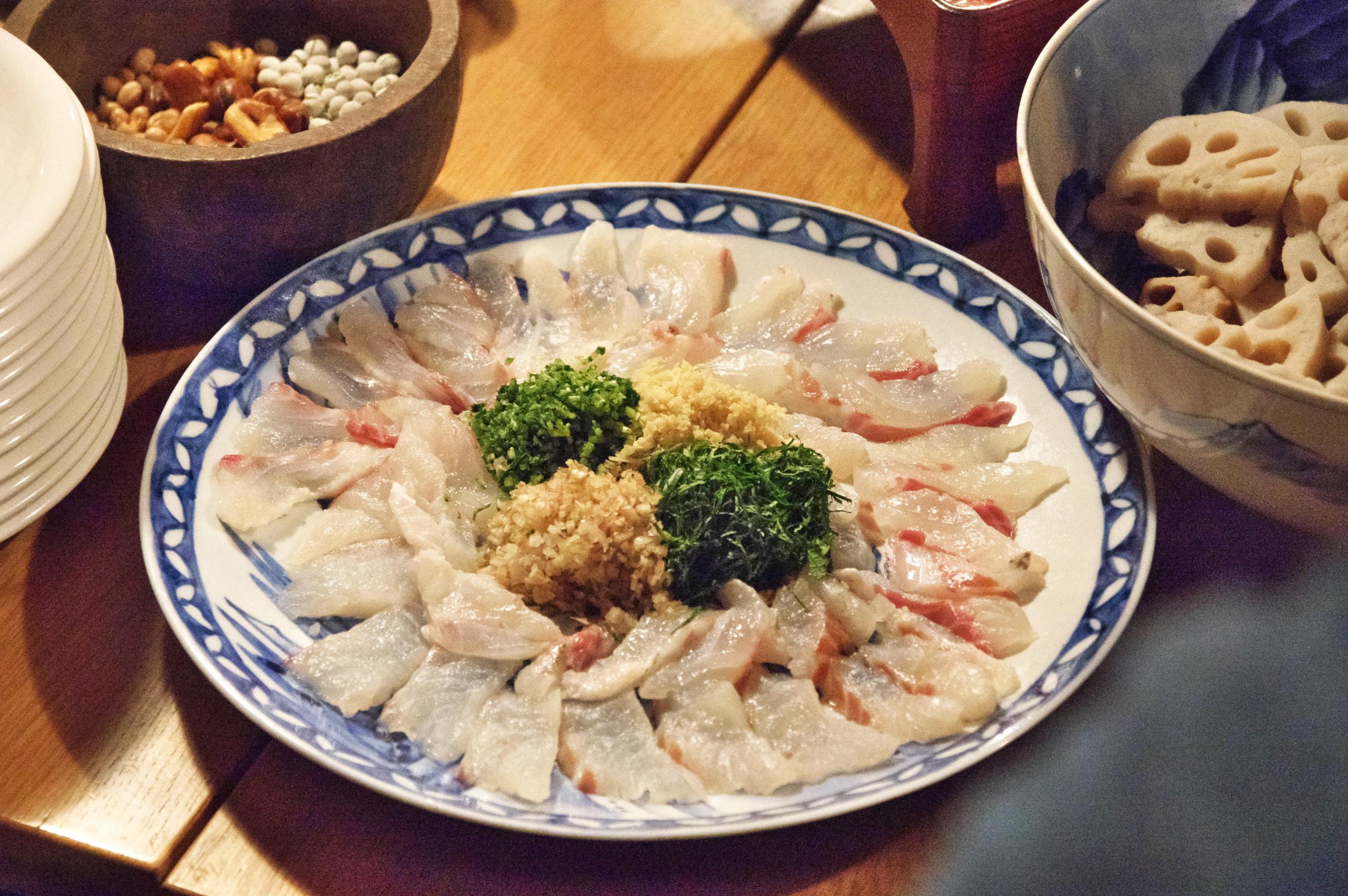 天平料理ー鯛ー