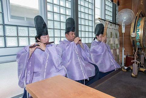 神社例大祭 祭典奏楽