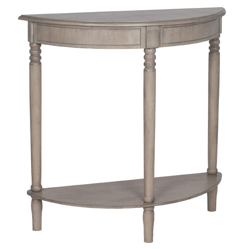 Ashley Taupe Half Moon Console Table