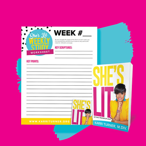 She's Lit + Worksheet Digital Download