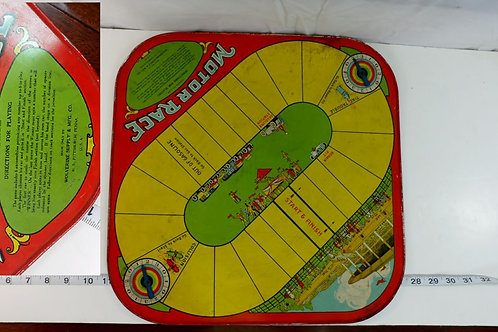 "Vintage Board Game ""Motor Race"" & Checkers Board"