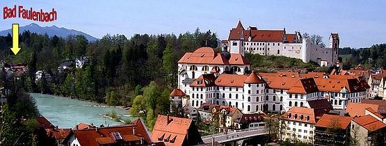 Füssen am Lech mit Schloss und Kloster St. Mang