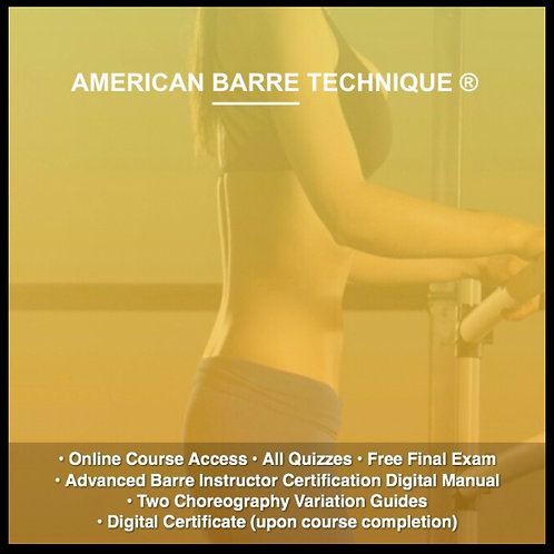 Level 2 Advanced Barre Instructor Certification Course