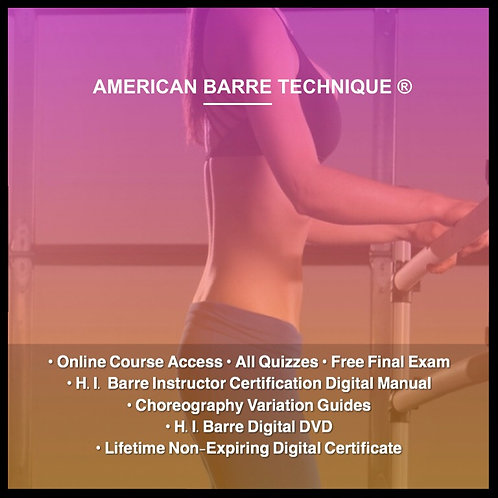 H.I. Barre Instructor Certification Course