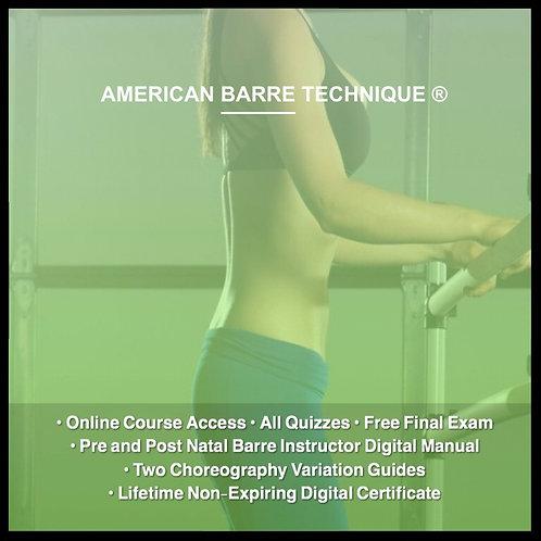 Pre and Postnatal Barre Instructor Certification Course