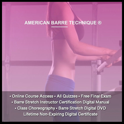 (Floor Barre Fitness) Barre Stretch Instructor Certification Course