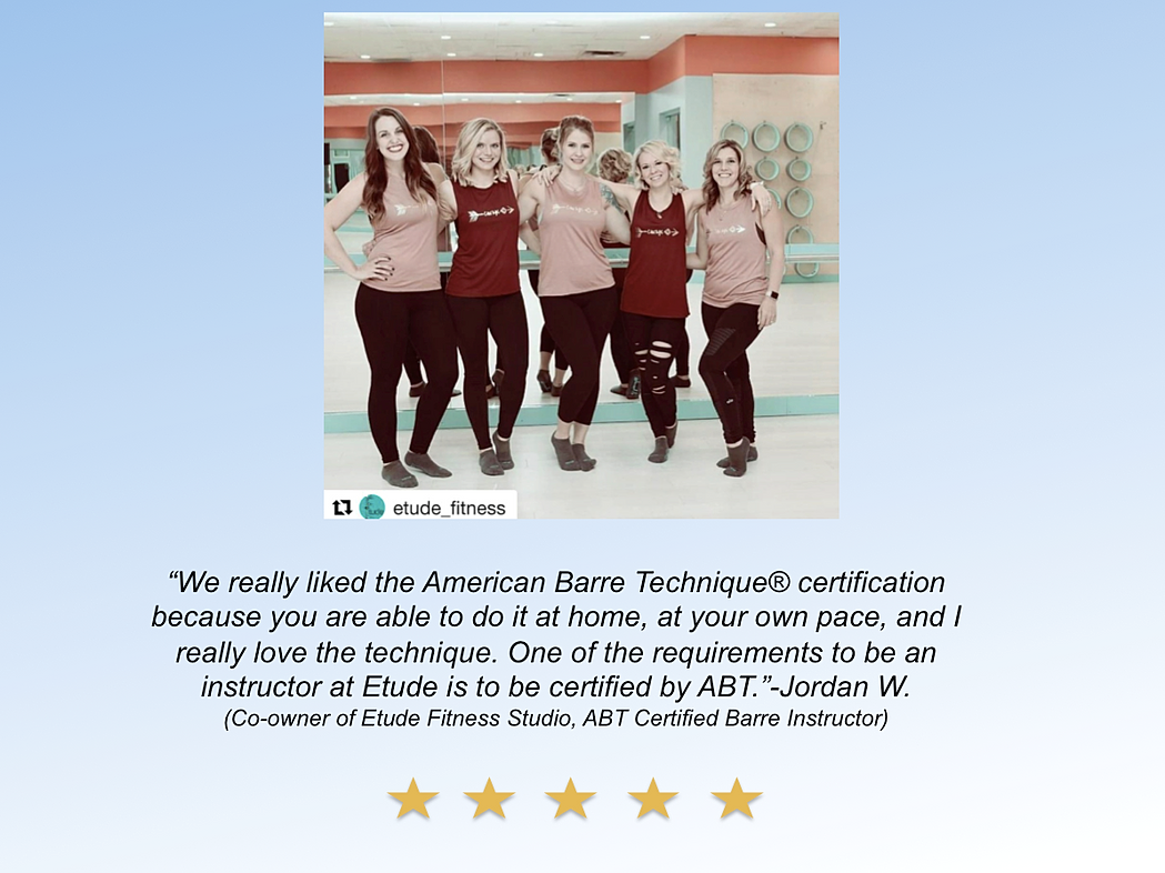 Barre instructor certification courses american barre technique teach barre fitness 1betcityfo Choice Image