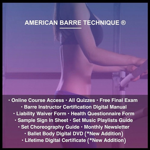 Barre Instructor Certification Course