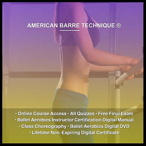 (Barre-less Barre) Ballet Aerobics Instructor Certification