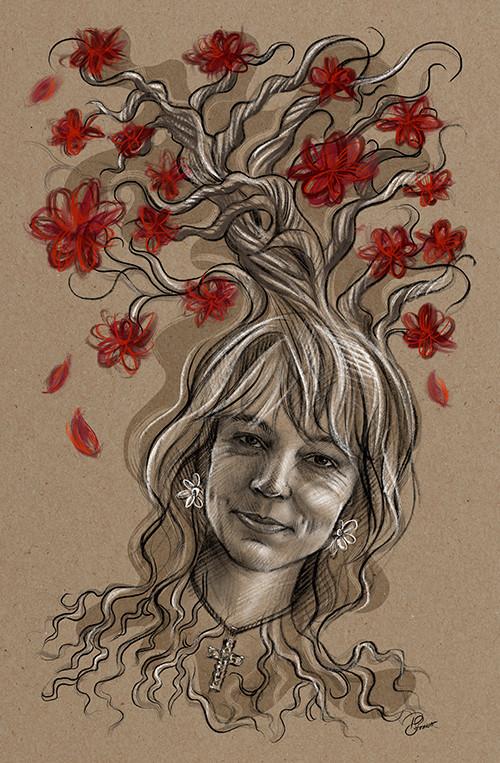 Auftrag Portrait mit Lebensbaum