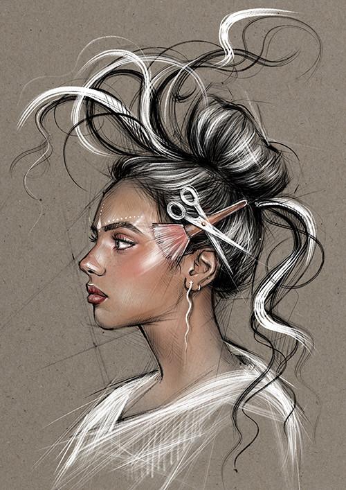 Werbebild für einen Friseur