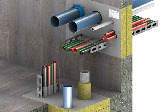 resserrage + manchon RF + chemin de câbles + PVC