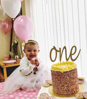 Adorable baby girls first birthday party!