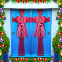 BE MERRY AND BRIGHT DOOR BOW!