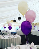 Perfect purple, lilac and ivory balloons.