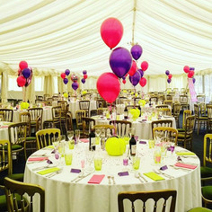 Gorgeous shocking pink and purple balloons!