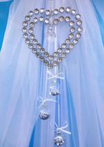 Diamante and Silver Hearts Door Bow!