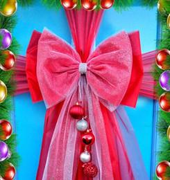 Deluxe Glitter Christmas Door Bow!