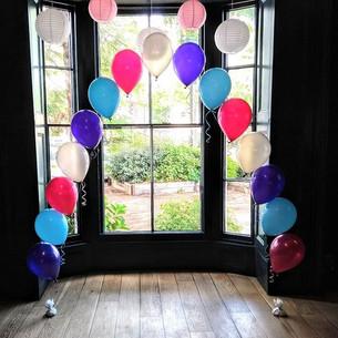 Fab vibrant coloured balloons.