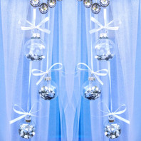 Silver Heart Filled Baubles Door Bow!