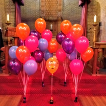 Vibrant colours for a very brave mums funeral.