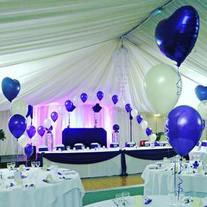 Gorgeous purple and ivory wedding.