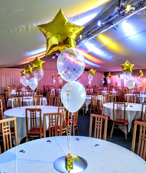 Fab gold and confetti balloons!