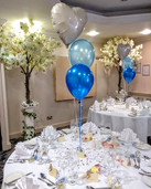 Gorgeous ivory foil heart topped table c