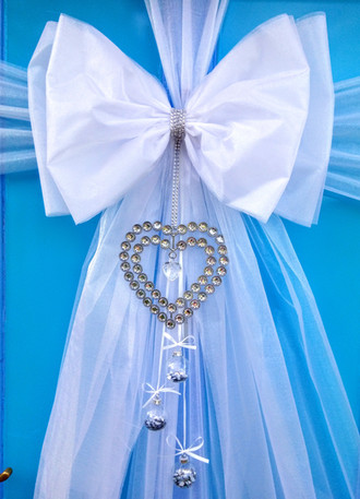 White Wedding Door Bow!