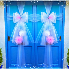 Pink and Blue Pom Pom Door Bows!