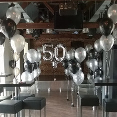 Happy 50th! An amazing collection of beautiful balloons.