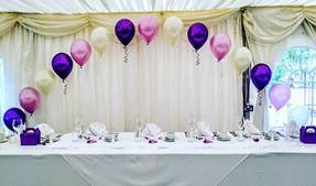 Pretty purple, lilac and ivory wedding.