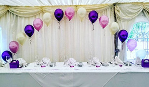 Pretty purple, lilac and ivory wedding.
