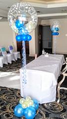 Mini balloons inside bubble arrangement!