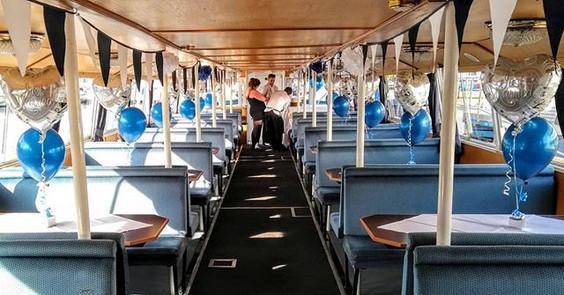 Ship ahoy for this nautical wedding.