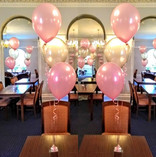 Pretty pastel pink and cream balloons