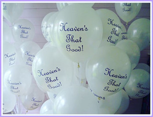 Heaven's that good! Funeral Balloons.