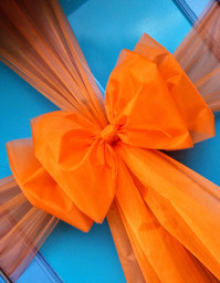 Plain Orange Door Bow!