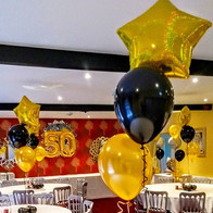 Dazzling gold and black party!