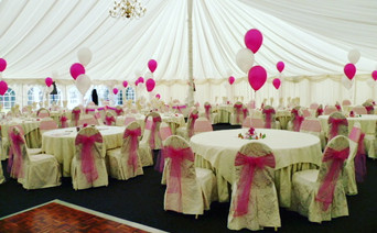 Magical magenta and white wedding!
