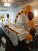 Orange, yellow, brown wedding.