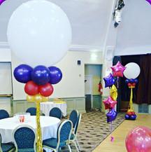 Glitzy giant balloon arrangements!