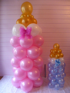 5ft and 30'' Babies Bottles.
