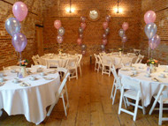 Pink, lilac and blue themed tea party balloons!