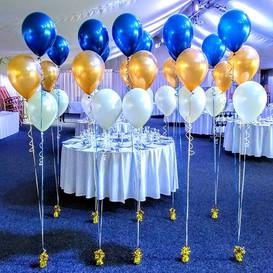 Navy, gold and cream wedding.