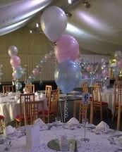 Pretty pastel prom balloons.