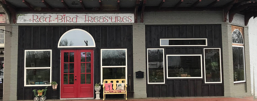 The Red Bird Treasures Store Front