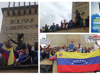 PROTESTA MUNDIAL CONTRA EL FRAUDE ELECTORAL EN VENEZUELA