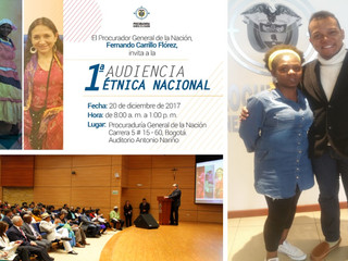 1era AUDIENCIA ÉTNICA NACIONAL DE COLOMBIA